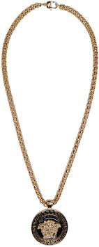 black gold chain necklace images Versace gold and black medusa chain necklace versace gold jpg