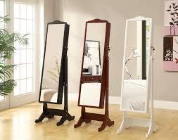 free standing jewellery armoire uk bedroom set of 3 standing jewelry lockable mirror armoire for
