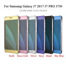 Samsung J7 Pro For Samsung Galaxy J7 Pro J730 Luxury Mirror Flip Cover Smart