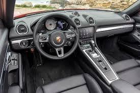 Porsche Boxster Lowered - 2017 porsche 718 boxster s first drive autoweb