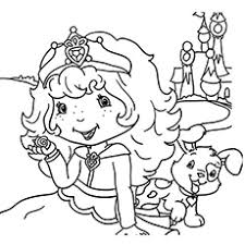 20 free printable strawberry shortcake coloring pages
