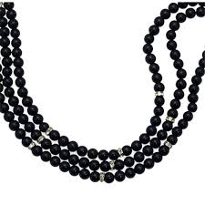 black bead necklace images Olivana silver tone black bead choker necklace aj fashion jewellery jpg