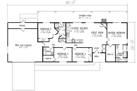 ranch house plans ranch style house plan 4 beds 2 00 baths 1720 sq ft plan 1 350