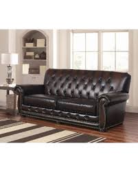Bonded Leather Sofa Durability Bargains On Abbyson Sonoma Tufted Leather Sofa Sonoma Brown