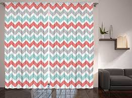 Coral And Turquoise Curtains Better Curtains Chevron Curtains Striped Curtains 2