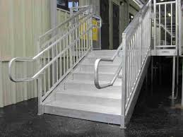 aluminum steps with handrail redd team
