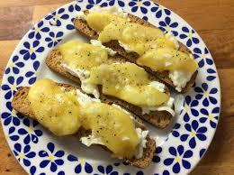 canape de de canapé de queso de cabra y manzana