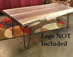 Black Walnut Table Top by Live Edge Table Etsy