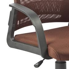 amazon com leick deep brown mesh back office chair kitchen u0026 dining