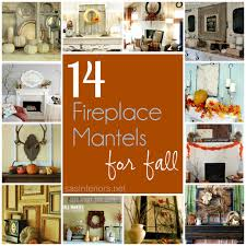 14 festive fireplace mantels for fall burger