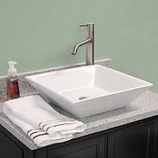 shallow kitchen sink fontaine shallow square porcelain bathroom vessel sink free