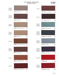 1965 exterior paint color charts