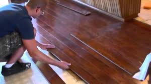 How To Put Laminate Flooring Down Installing A Floating Wood Floor Youtube