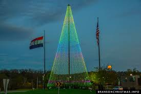 led tree city lights up new 80 foot led christmas tree branson christmas
