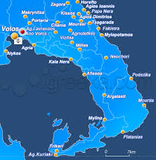 volos map pelion ano volos pelion villages greeka