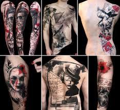 trash polka tattoos a style far from trash