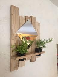 etagere pour vernis étagère décoration miroir bois chêne vernis décorations murales