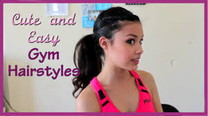 a quick and easy hairstyle i can fo myself 3 cute easy and fun gym hairstyles youtube