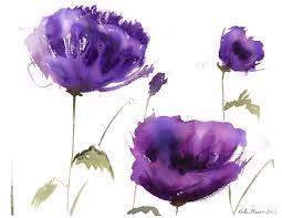 Poppy Home Decor by Purple Flower Watercolor Google Search Amazing Art Pinterest