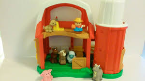 Little Tikes Barn Fisher Price Little People Animal Sounds Farm Barn Farmer Cow Pig