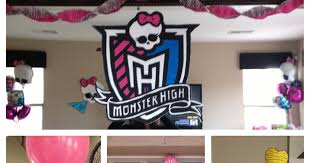 the busy broad monster high party decorations