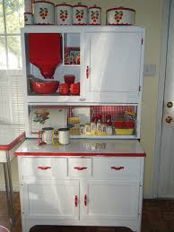 Small Red Kitchen Appliances - sellers hoosier cabinet 2 hoosier cabinet red kitchen and cherries