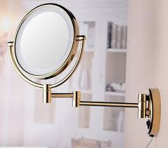 gold home decor accessories decor wall mount best lighted makeup mirror in gold finish for