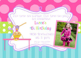 Example Of Birthday Invitation Card Gymnastics Birthday Party Invitations Theruntime Com