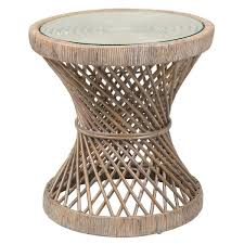 Rattan Side Table Crafted Home S Erin Rattan Side Table Free Shipping Today