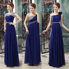 bridesmaid dresses 2015 wholesale 2015 new one shoulder royal blue bridesmaid dresses