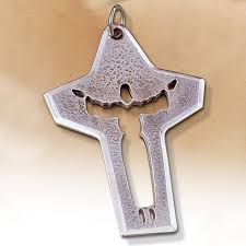 risen crucifix cut out risen bishop clergy neck pendant pectoral cross