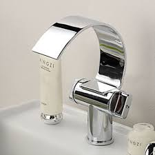 novelty curve belt design chrome waterfall mixer tap basin faucet