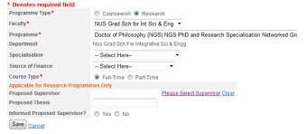 phd application nus graduate for integrative sciences and