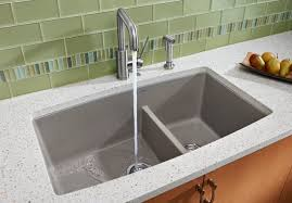 blanco metallic gray sink blanco 441309 33 inch undermount double bowl granite sink with 10