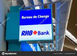 bureau de change malaysia board showing rhb bank at kuala lumpur international airport
