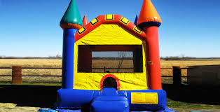 bounce house rentals houston rent a multi colored castle bounce house houston skyhighpartyrentals
