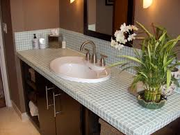 glass tile bathroom countertop room design ideas