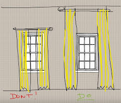 How Wide To Hang Curtains Sugar Cube Interior Basics How To Properly Hang Drapes