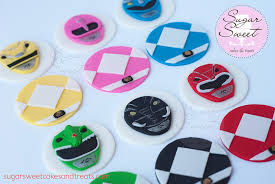 power rangers cake toppers mighty morphin power ranger cupcake toppers an assortment flickr