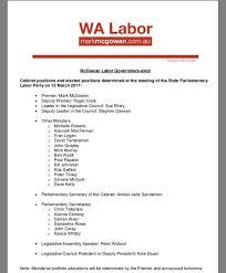 15 Cabinet Positions Wa Cabinet Ministers 2017 Memsaheb Net