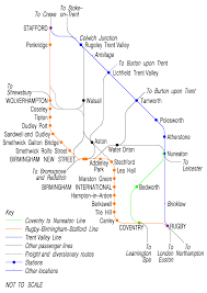 England Train Map by Trent Valley Line Wikipedia