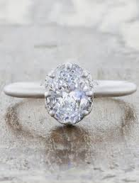 conflict free engagement rings carmena oval conflict free diamond with halo ken design