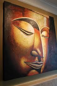 Zen Bedroom Wall Art Zen Buddhism Buddha Painting Heavy Textured Canvas Wall Art Dec
