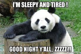 Im Sleepy Meme - i m sleepy and tired good night y all zzzzz confession panda