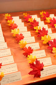 themed place cards 40 cheerful fall orange wedding ideas wedding place cards place