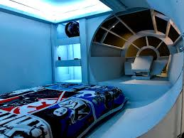 star wars themed room homemade star wars themed bedroom with raised millennium falcon