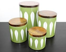 kitchen canisters green vintage kitchen canisters etsy