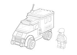 lego police coloring page for kids printable free duplo with
