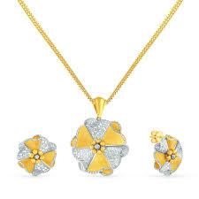 gold pendant necklace set images Buy malabar gold pendant set psdg212246 for women online malabar jpg