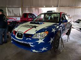 subaru wrx custom dirty racing parts sti rally car livery skepple inc